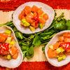 Фото к позиции меню Тар-тар из лосося в тайском стиле