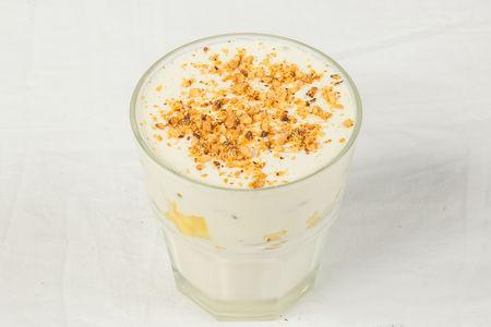 Кремовый десерт с манго