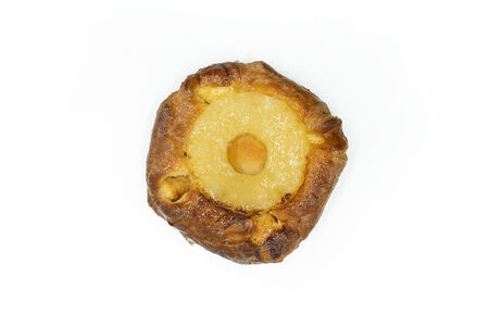 Слойка Датская с ананасом и марципаном