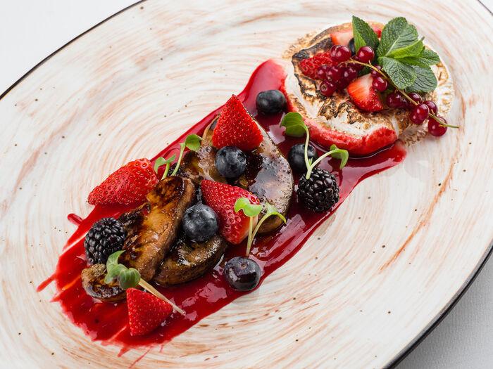 Фуа-гра с ягодами