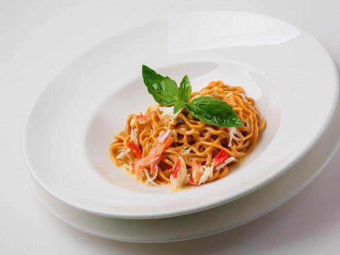Спагетти с крабовым мясом