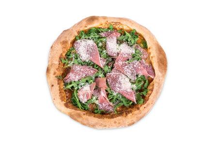 Пицца с рукколой и хамоном