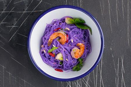 Салат с цветной лапшой