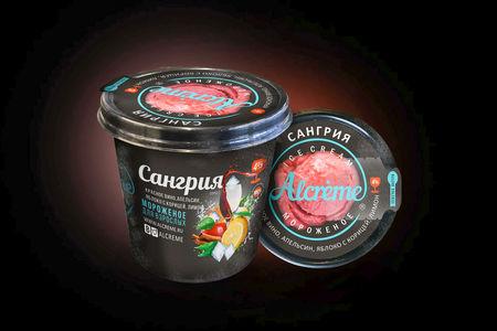 Мороженое в стаканчике Сангрия