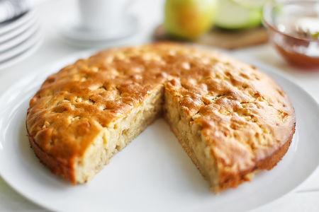 Пирог постный яблочно-медовый