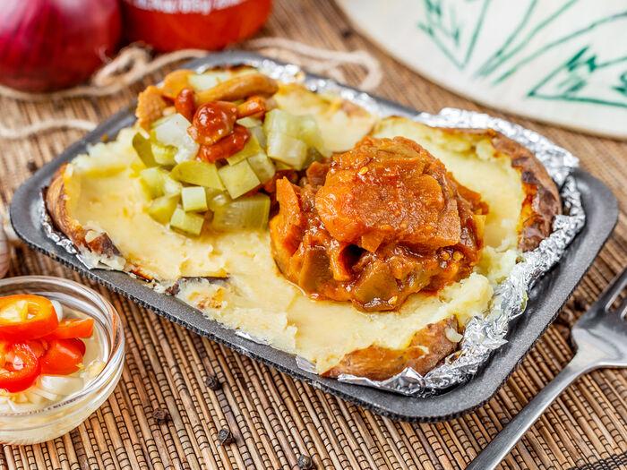 Картофель с растительным маслом