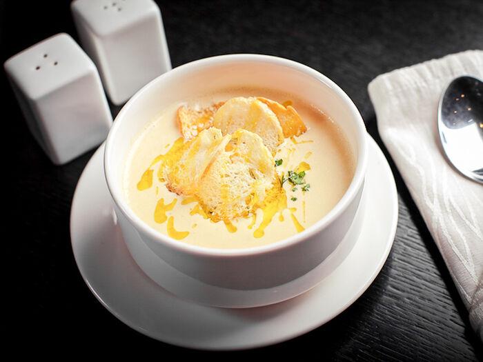 Крем-суп из лосося