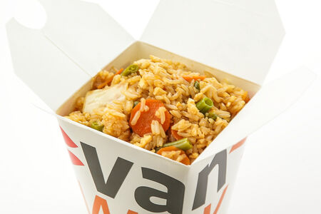 Рис жасмин с омлетом и овощами