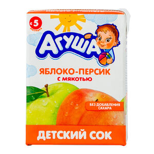 «Агуша» яблоко-персик