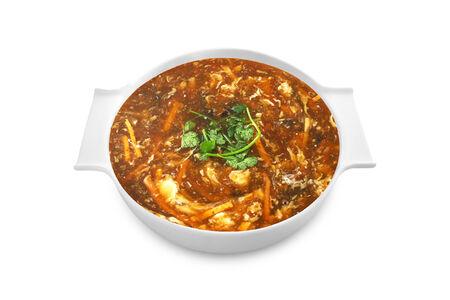 Кисло-острый суп с морепродуктами