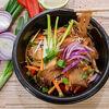 Фото к позиции меню Стеклянная лапша с овощам и морской рыбой