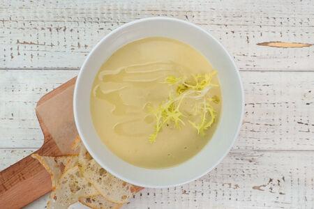 Крем суп из лесных грибов с ароматом трюфеля