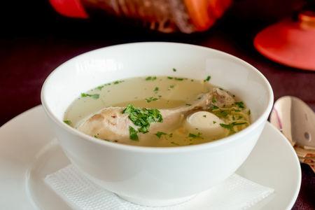 Суп-лапша с куриной ножкой