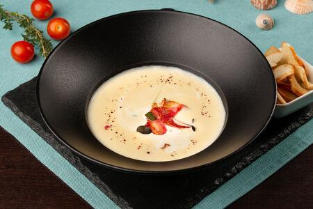 Крем-суп Сырный с копченостями