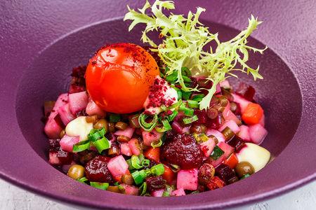 Винегрет с маринованным томатом