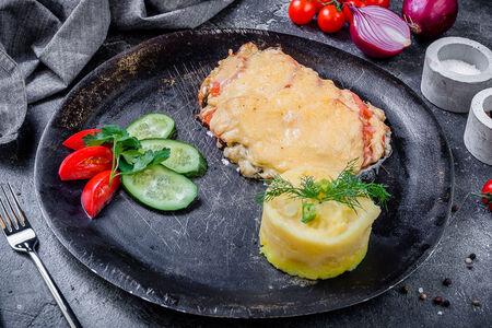 Мясо по-французски из филе индейки