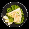 Фото к позиции меню Сэндвич-ролл с индейкой на пшеничной лепешке