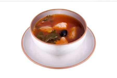Суп Рыбный с семгой и томатами