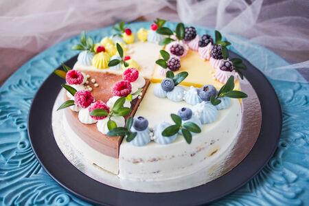 Торт-мороженое Набор четвертинок с разными вкусами