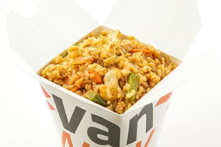 Цельнозерновой рис с омлетом и овощами