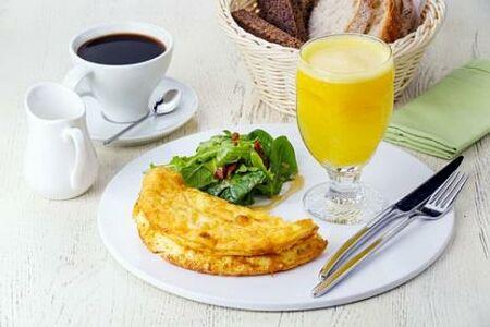 Комплексный завтрак с апельсиновым фрешем