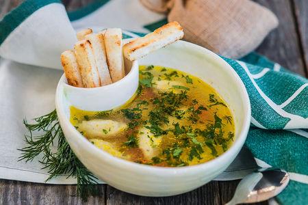 Суп с кнели из индейки