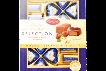 Шоколадные конфеты Carstens Нуга в молочном шоколаде