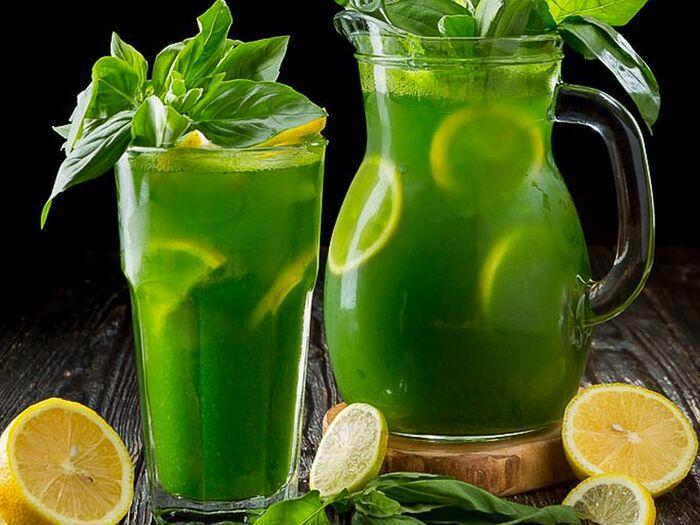 Домашний лимонад Базилик
