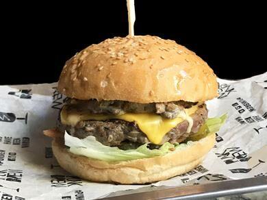 Бургер из мраморной говядины