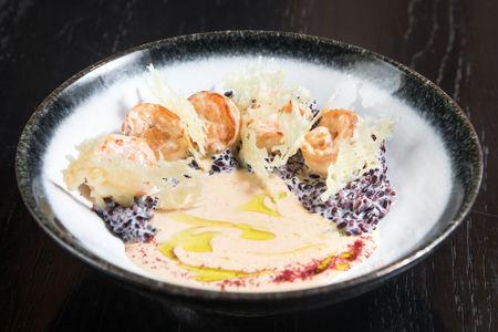 Креветки с рисом венере