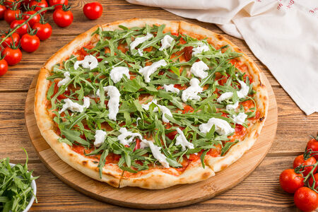 Пицца со страчателлой