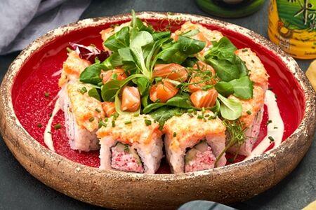 Ролл-салат Босутон со спайси лососем