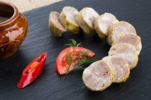 Колбаса домашняя свиная жареная