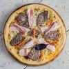 Фото к позиции меню Пицца с телятиной и беконом