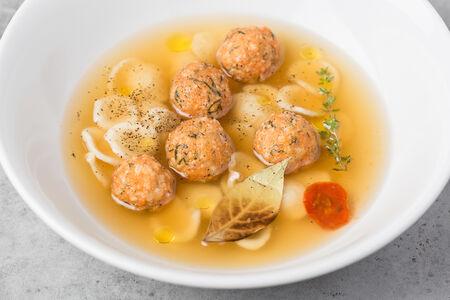 Суп Куриный с орекьетте и польпетте