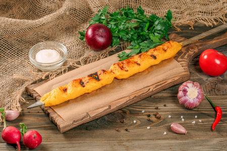 Люля-кебаб из картофеля