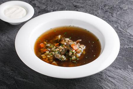 Домашний суп из лесных грибов с перловкой