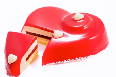 Торт Сердце Кувертюр