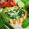 Фото к позиции меню Перепечки с яйцом и зеленым луком