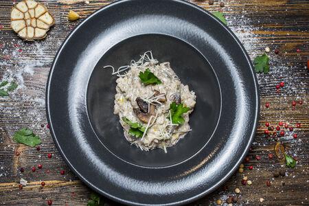 Ризотто с грибами и трюфелем