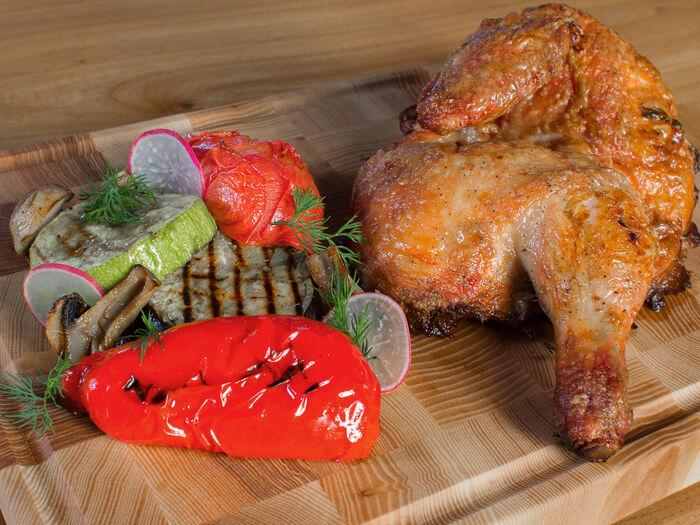 Половина цыплёнка по-гасконски