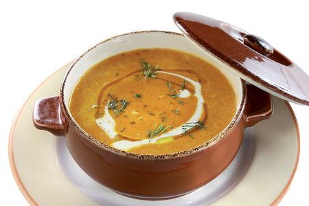 Суп-пюре из печеной тыквы