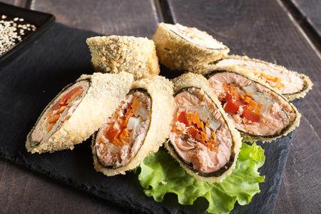 Тонкацу с лососем