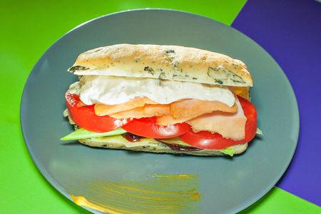 Сэндвич с индейкой и тунцом