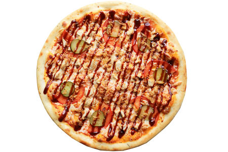 Пицца Курочка барбекю пышная