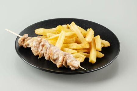 Комбо шашлычок куриный и картофель фри