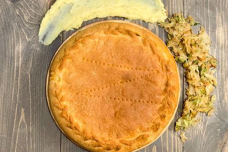 Пирог с картофелем и капустой