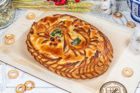 Пирог с индейкой и грибами