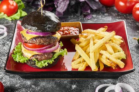Бургер Черный Двойной