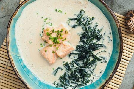 Сливочный мисо с лососем